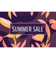 summer sale in design banner template vector image
