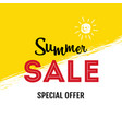 summer sale special offer banner vector image vector image