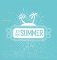 summer time retro postcard rope frame palms
