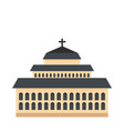 tall church icon flat style vector image vector image