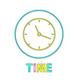 time clock with hands icon vector image