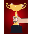 Trophy winner background vector image vector image