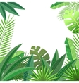 Tropical leaves floral design vector image vector image