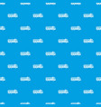 truck pattern seamless blue vector image vector image
