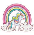 unicorn fantasy drawing cartoon vector image vector image