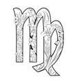 virgo horoscope sign vector image