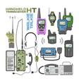 walki-talkie radio portable transmitter vector image vector image