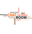 word cloud chat room vector image
