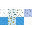 set of summer seamless patterns vector image