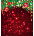 Christmas background with bright baubles vector image