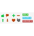 Social icons and buttons vector image