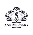 5 years anniversary logo luxury floral 5th