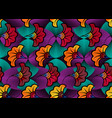 african wax print fabric ethnic flowers pattern vector image vector image