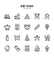 bashower icon set collection vector image vector image