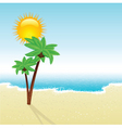 beach landscape vector image vector image