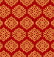 Beautiful art pattern wallpaper on red background vector image vector image