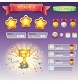 Big set of interface elements for computer games vector image vector image