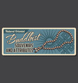 buddhism religion cultural center souvenirs shop vector image