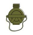 canteen water bottle vector image