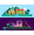 Castles Horizontal Banners vector image vector image