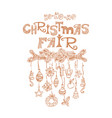 christmas fair market announcement poster vector image