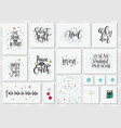 christmas new year lettering typography set vector image