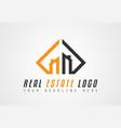creative real estate logo design for brand vector image vector image