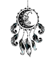 Dream catcher with feathers vector image vector image
