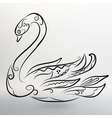 eps 10 of Abstract black swan vector image vector image