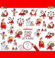find one of a kind christmas character vector image vector image
