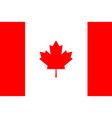flag of canada in flat design flag indonesia vector image vector image