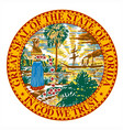 florida state seal vector image vector image