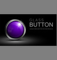 glass purple button vector image
