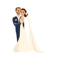 groom and pride hug each other isolated vector image vector image