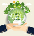 Hand holding Green Eco Earth vector image