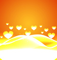heart background with wave vector image vector image
