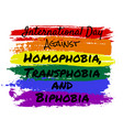 homophobia transphobia and biphobia vector image