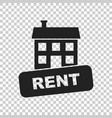 house for rent in flat style on isolated vector image