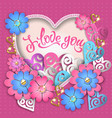i love you composition with hearts vector image vector image