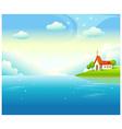 Idyllic church landscape background