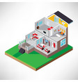 isometric house interior vector image