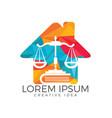 law house logo design vector image vector image