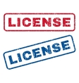 License Rubber Stamps vector image vector image