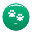 lynx step icon green vector image