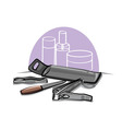 manicure tools vector image vector image