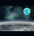 moon space earth background 2013 c5 vector image vector image