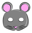 mouse mask on white background vector image vector image