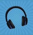 music headphones pop art vector image