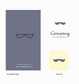 mustache company logo app icon and splash page vector image