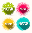 New Colorful Star Shaped Paper Labels - Stickers vector image